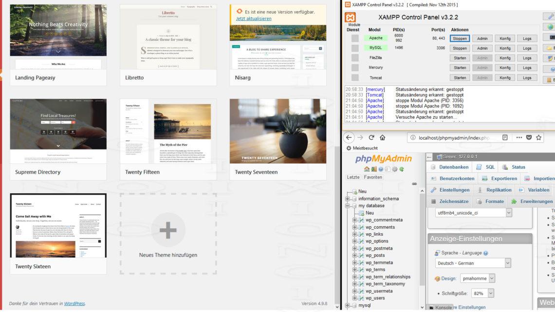Vor der Veröffentlicheung des WordPress-Blogs: Testen der Website mit XAMPP